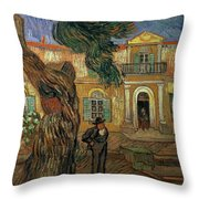 St Pauls Hospital, St Remy, 1889 Throw Pillow