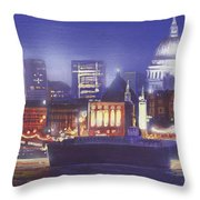 St Paul's Landscape River Throw Pillow by MGL Meiklejohn Graphics Licensing