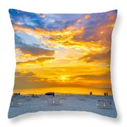 St. Pete Beach Sunset Throw Pillow