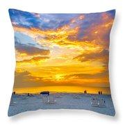 St. Pete Beach Sunset Throw Pillow