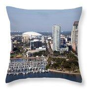 St Pete Florida Throw Pillow