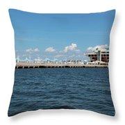 St Pete Pier Throw Pillow by Carol Groenen