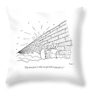 St. Peter In Heaven Throw Pillow