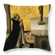 St. Peter Martyr In Prayer Throw Pillow