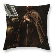 St Peter Of Alcantara Throw Pillow