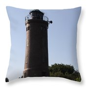 St. Peter-ording Lighthouse - North Sea - Germany Throw Pillow