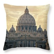 St Peter's Afternoon Glow Throw Pillow