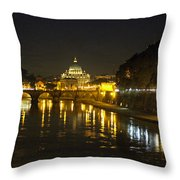 St Peters At Night Throw Pillow