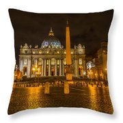 St Peters Bascilica Throw Pillow
