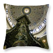 St. Peter's Basilica Dome Throw Pillow