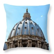 St Peters Basilica Dome Vatican City Italy Throw Pillow