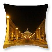 St. Peter's Basilica. Via Della Conziliazione. Rome Throw Pillow by Bernard Jaubert