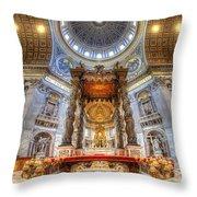 St Peter's Basilica Throw Pillow