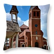 St Peters Catholic Church Throw Pillow