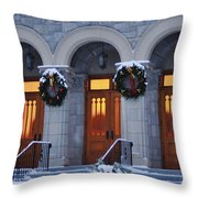 St Peters Christmas Welcome Throw Pillow