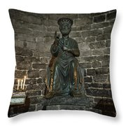 St Peters Medieval Church Porto Venere Throw Pillow