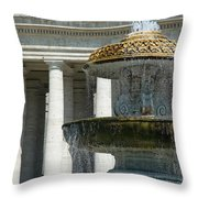 St Peters Square Fountain Throw Pillow