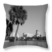 St Petersburg Fl From Mirror Lake Park Throw Pillow