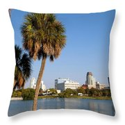 St Petersburg Florida From Mirror Lake Park Throw Pillow