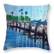 St. Petersburg Marina Throw Pillow