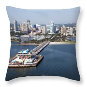 St Petersburg Skyline And Pier Throw Pillow