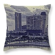 St Petersburg Waterfront Throw Pillow