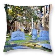 St. Philips Church Cemetery Charleston Sc Throw Pillow