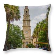 St. Philip's Episcopal Church Charleston Sc Throw Pillow
