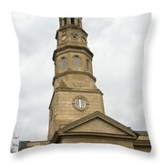St Phillips Episcopal Church Charleston South Carolina Throw Pillow