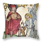 St. Roch (c1350-c1379) Throw Pillow