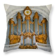 St Roch Organ In Paris Throw Pillow