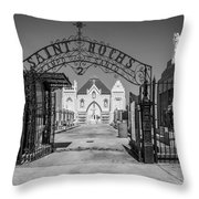 St Roch's Cemetery Bw Throw Pillow