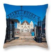 St Roch's Cemetery Throw Pillow
