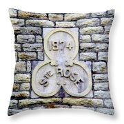 St. Rose 1874 Throw Pillow