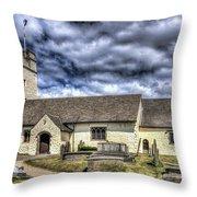 St Sannans Church Bedwellty 3 Throw Pillow