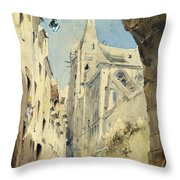 St. Severin Paris Throw Pillow by James Holland
