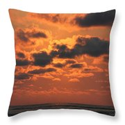 St Simons And Sea Island Sunrise Throw Pillow