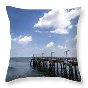 St. Simon's Island Georgia Dock Throw Pillow
