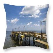 St. Simon's Island Georgia Pier Throw Pillow