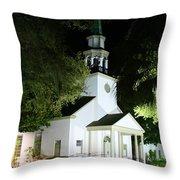 St Simons Island Presbyterian Church Throw Pillow