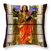 St. Stan's Stained Glass Throw Pillow