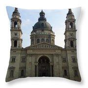 St Stephens Basilica Budapest Throw Pillow