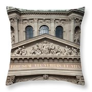 St. Stephen's Basilica Closeup Throw Pillow