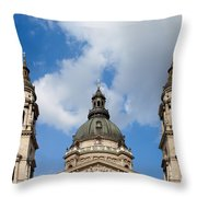 St. Stephen's Basilica Dome And Bell Towers Throw Pillow