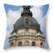 St. Stephen's Basilica Dome In Budapest Throw Pillow