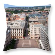 St Stephen's Square In Budapest Throw Pillow