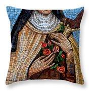 St. Theresa Mosaic Throw Pillow