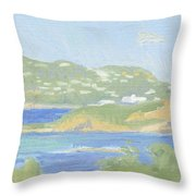 St. Thomas From Water Island Throw Pillow