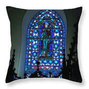 St Thomas Stained Glass Throw Pillow