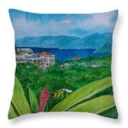St. Thomas Virgin Islands Throw Pillow